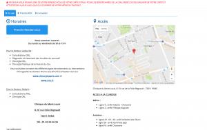 Prendre rendez-vous en ligne au CRTS Paris